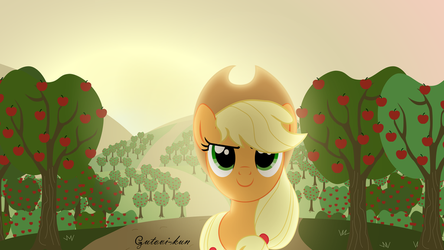 Applejack Sunrise Wallpaper by Gutovi