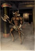 The Minotaur at Knossos by Panaiotis