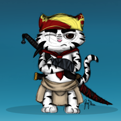 Fursona as the Meowscular chef by JashawnMuse