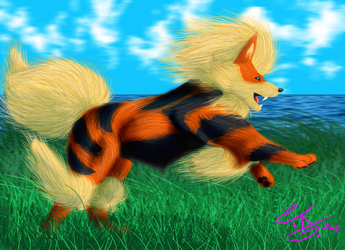 Arcanine - Swifter than the Wind by AmeixKon