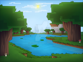 Minecraft Roofed Forest by Exunary