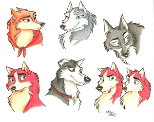 Balto Characters by Stray-Sketches
