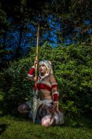 Snow Bunny Nidalee Cosplay - League of Legends by KimontheRocks
