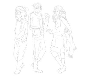 Noragami Lineart by imberantiel