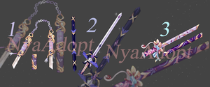 [CLOSED] Weapon Batch I [REDUCE] by NyaAdopt