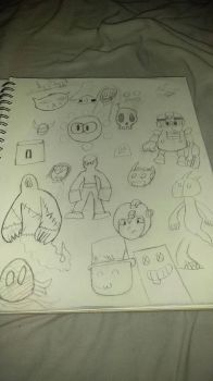 sketches ive did in  school by megatanklord