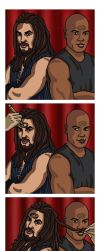 Photo Booth: Ronon and Teal'c by jeminabox