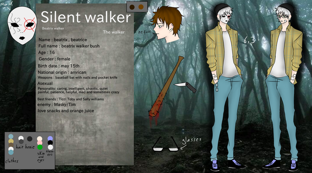 Silent walker [reference sheet] OC (NEW UPDATE) by xsilentwalkerx