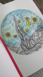 Watercolour Starry Night by VictoriaPaola