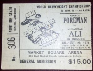 Mike Tyson vs Muhammad Ali Ticket Stub