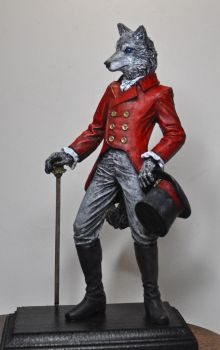 Gentleman Wolf, painted by DellamorteCo