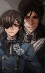 The Queen's watchdog and his butler - Kuroshitsuji by DeerAzeen