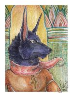 ACEO for Atteo - Akhar in the temple by MiriElzar