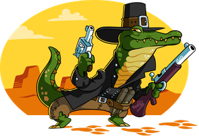 Gator on patrol by A-Fox-Of-Fiction