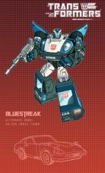 Bluestreak poster by J-Rayner