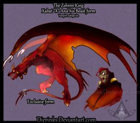 Xabat and Beast form [offical concept design] by Dierinks