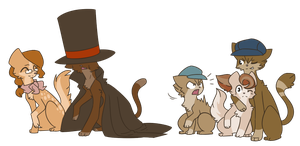 LAYTONCATS ERMAGERD by Atrixy