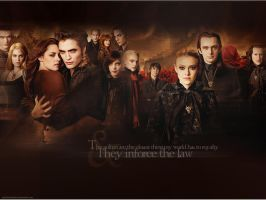 The vulturi and Cullens by Hesavampire