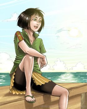 Sunday by the Sea by spoonyliger