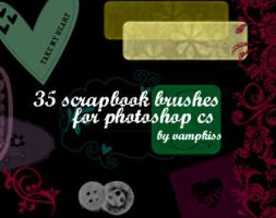 35 scrapbook brushes for ps cs by vamp-kiss