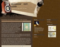 Bloggin Loud Blogger Template by arwenita