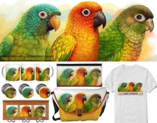 The three conures by emmil