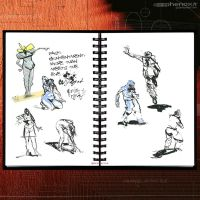 Sketch Works: Book 1 17 'brushed figures' by phenoxa