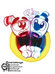 cute cuphead and mugman - LINK TO RB by daregindemone04