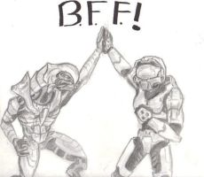Arbiter and Masterchief BFF by Thel-Vadamee