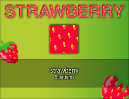 strawberry pattern by rainbows-stock