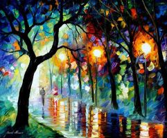 Dark Night by Leonid Afremov by Leonidafremov