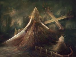 Lady Pyramid Head by 3abden