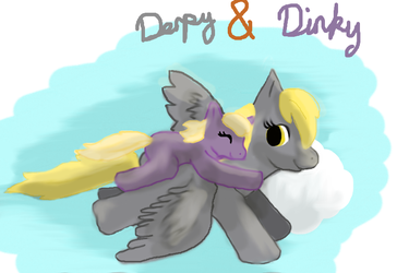 Derpy and Dinky by livesfordrawings