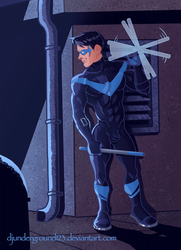 [GIF COMMISSION] Nightwing's Nightly Routine by djunderground123