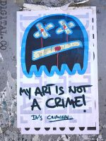 My art is not a crime. by d1g1talco