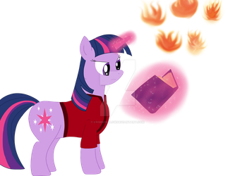 Firebender Twilight redrawn by CrimsonGlow