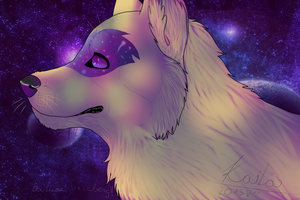 Space - legendary wolf by keilia-wolf