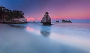 Cathedral Cove Sunset by mark-flammable