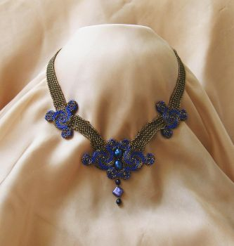 ANTIQUE BRONZE NECKLACE. by PaperIrises