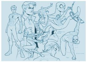 Spiderman Teen Sketch by taguiar