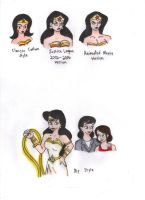 Different Styles of Wonder Woman by KessieLou