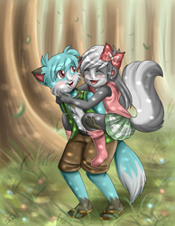 :Piggy Back In The Woods: by Sweetochii