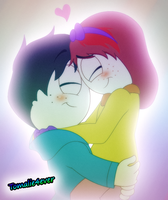 ::Tomalie:: Cuddling (south park) by Kitshime-SP