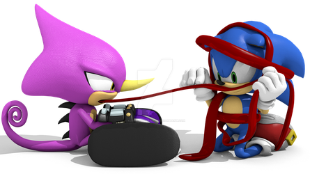 Commission: Espio tongue measurement with Sonic by Korey-SonicFan22