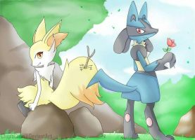 Request 3:  DarkrexS (braixenXlucario) by ChosaChan