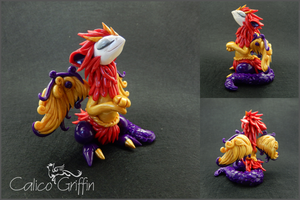 Custom order: Valefor inspired griffin by CalicoGriffin