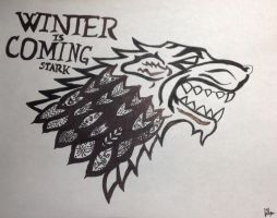 Zentangle Stark Sigil by Jade-the-Kitsune