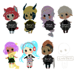 [open 1/7] -reduced prices- chibi adoptables #7 by AlexanderPaupoff