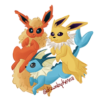 eeveelutions by drawnbykenna