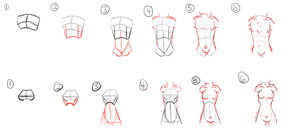 How To Torso (anthro ish) [6 step] by Wub-Bouncer
